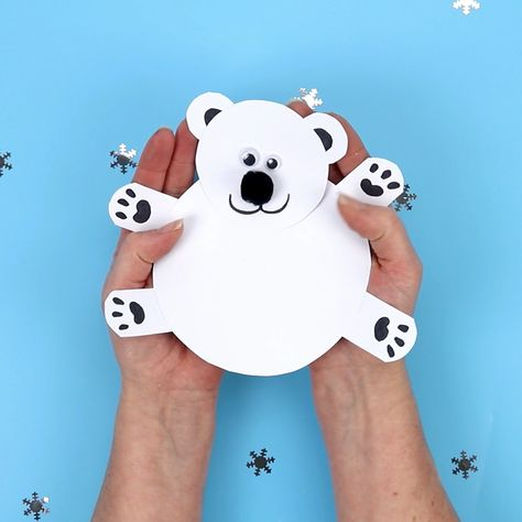 Moving Polar Bear Cub Craft