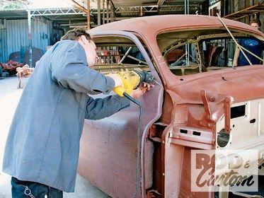 Chopping A 1951 Mercury Hot Rod Network Old Hot Rods Mercury Auto Body Work