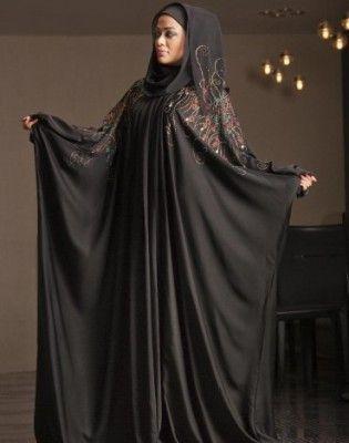 بالصور موديلات عبايات خليجية 2015 أحدث أشكال العبايات الخليجية 2015 Abaya Designs Black Abaya Black Abaya Designs