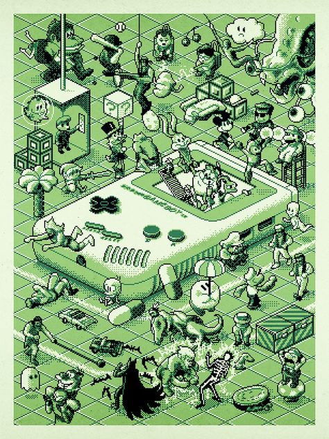 Game Boy. Awesome image, but I'm disappointed that Samus isn't on here; Metroid II was one of my favorites.