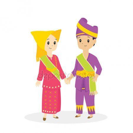 Baju Adat Indonesia Kartun