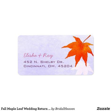 Fall Maple Leaf Wedding Return Address Label   Elegant Fall Wedding Ideas  #FallWedding #FallWeddingIdeas #FallWeddingFavors #Maple #MapleLeafs #FallBridalShower #AutumnWedding #Wedding #AutumnWeddingIdeas #AdressLabel #WeddingLabels #Red #Lavender #RusticFallWedding #Weddings #Zazzle #Zazzlemade #ReturnAddressLabels