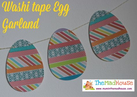 Washi tape easter garland