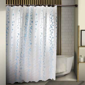 Lark Manor Oropeza Single Shower Curtain Reviews Wayfair Shower Curtain Cotton Shower Curtain Striped Shower Curtains