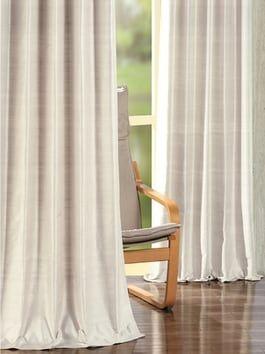 Birch Faux Linen Blackout Room Darkening Curtain Curtains