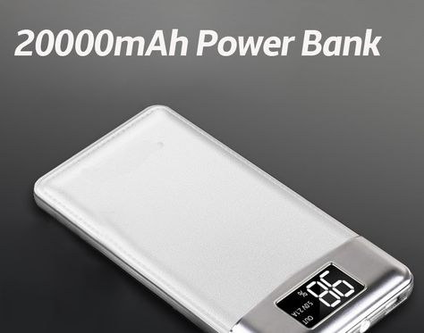 American 20000mah Power Bank External Battery Poverbank 2 Usb Led Powerbank Portable Mobile Phone Charger For Xiaomi Samsung Iphone Xs Advertising