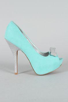 Beautiful sparkle tiffany blue heels 3 i wish i picked this color turquoise peep toe pumps on wanelo junglespirit Images