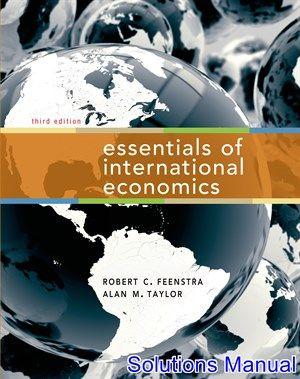Essentials Of International Economics 3rd Edition Feenstra Solutions Manual Digital Deal Promotion 2021 Macroeconomics Economics Textbook Economics