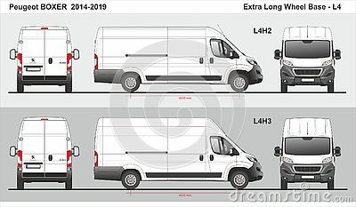 Peugeot Boxer Cargo Van Extra Long Wheel Base L4h2 L4h3 2014 2019