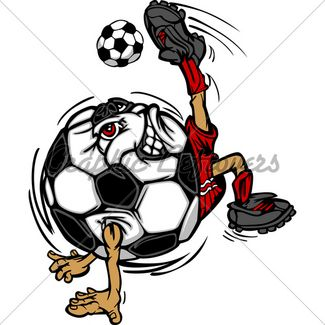 Soccer Ball Cartoon Image As A Soccer Player Ki