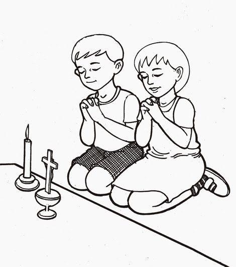 21 Gambar Kartun Anak Kristen Sedang Berdoa Di 2020 Kartun