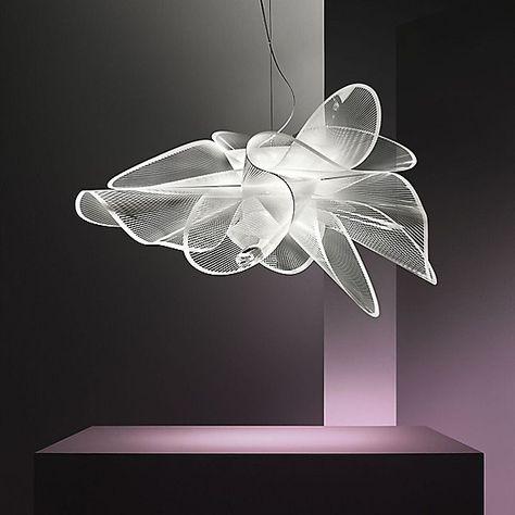 La Belle Etoile Pendant Light by Slamp - Color: Translucent/White - Finish: Cristalflex - Cheap Pendant Lights, Modern Pendant Light, Pendant Lighting, Pendant Lamps, Ceiling Pendant, Living Room Bedroom, Lamp Design, Modern Lighting, Lamp Light