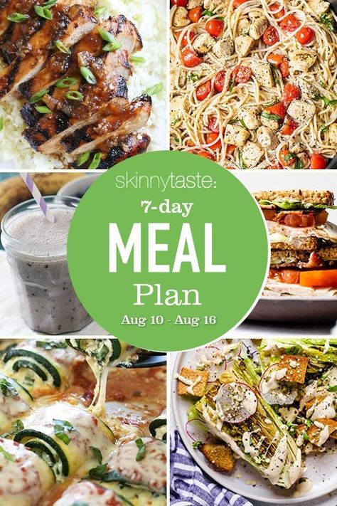 A free 7-day, flexible weight loss meal plan including breakfast, lunch and dinner and a shopping list. All recipes include calories and updated WW Smart Points. 7-Day Healthy Meal Plan I hope everyone is doing well this week! As many of you know, I live in Long Island NY, and we were hit pretty hard […] The post 7 Day Healthy Meal Plan (Aug 10-16) appeared first on Skinnytaste.