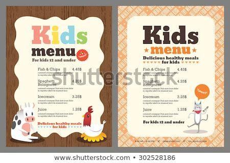 Cute Colorful Kids Menu Template Download Free Vector Art Stock Graphics Images Kids Menu Kids Menu Template Menu Template