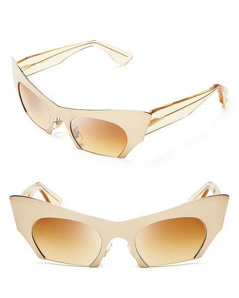 Miu Miu Semi-Rimless Gold-Tone Cat Eye Sunglasses   Bloomingdale s ... 8268ff6e76