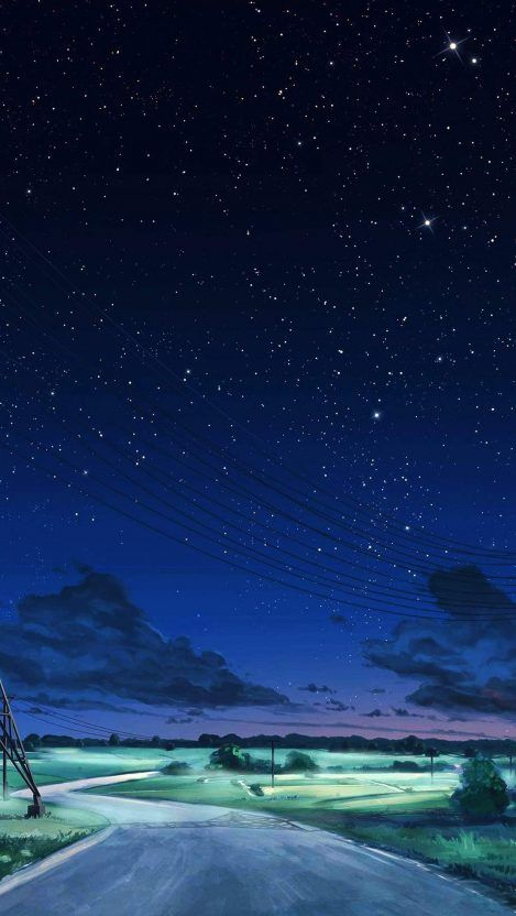 Night Stars Road Side Camping Iphone Wallpaper Iphone Wallpapers Sky Anime Nature Iphone Wallpaper Iphone Wallpaper