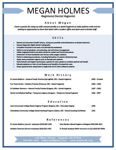 dental hygienist resume sample thevillas co