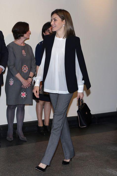 Letizia, de Massimo Dutti a Zara | Moda estilo, Estilo real
