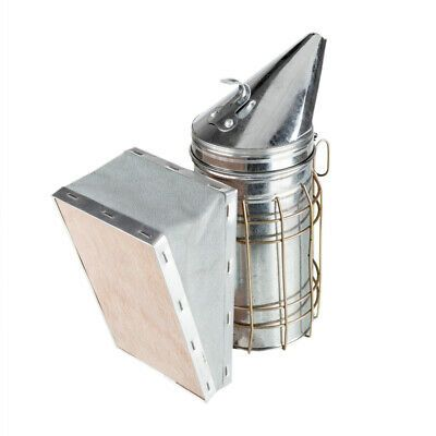 Stainless Steel Electric Bee Hive Smoker With Heat Shield Beekeeping Equipment