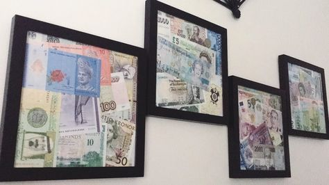 Floating Framed Currency | Easy art, Framed maps and Apartments