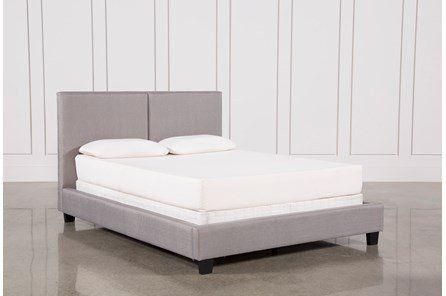 Rylee Queen Upholstered Panel Bed Panel Bed Upholstered Panel Bed Affordable Bed Frames