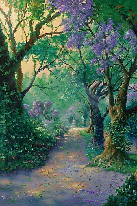 The Way Home * Artist Jim Warren Fantasy Myth Mythical Mystical Legend Whimsy Hidden Surreal Nature