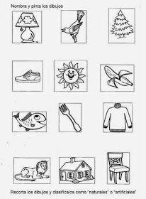 Mis Recursos Didacticos Lamina Para Clasificar Elementos Naturales Y Artifici Identificacion De Letras Elementos Naturales Materiales Naturales Y Artificiales