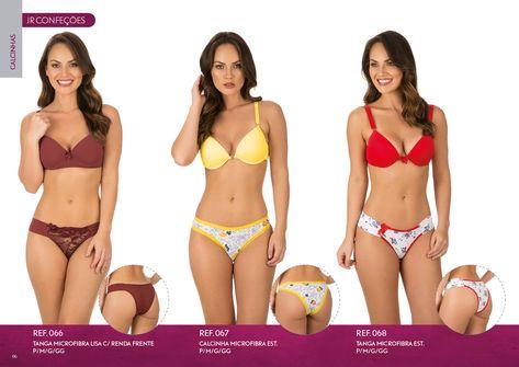 80388f696 Novo catálogo JR Confecções 2018 com lindas lingeries também em tamanho plus  size e infantil.