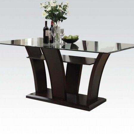 Pervis Dining Table Black Dining Table Glass Dinning Table