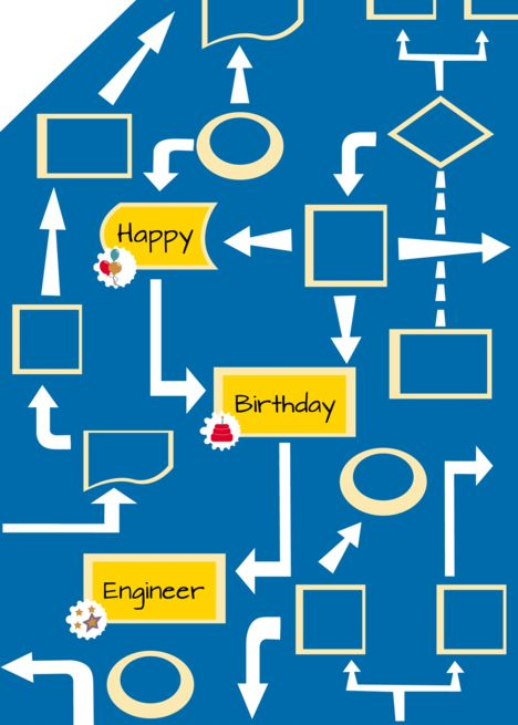 Flow Chart Happy Birthday Engineer Card Ad Affiliate Happy Chart Flow Card Happy Birthday Cards Birthday Cards Cards