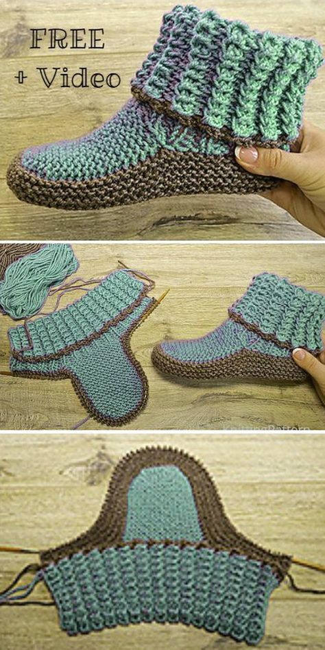 Knitting Socks, Knitting Stitches, Knitting Patterns Free, Knit Patterns, Free Knitting, Free Crochet, Knit Crochet, Crochet Gifts, Beginner Knitting Projects