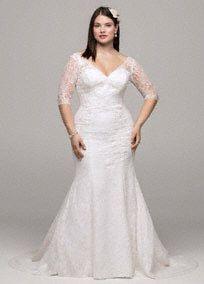 Classic plus size wedding dresses