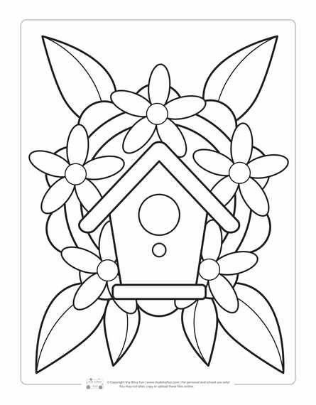 Spring Coloring Pages For Kids Itsybitsyfun Com Spring Coloring Pages Bird Coloring Pages Coloring Pages