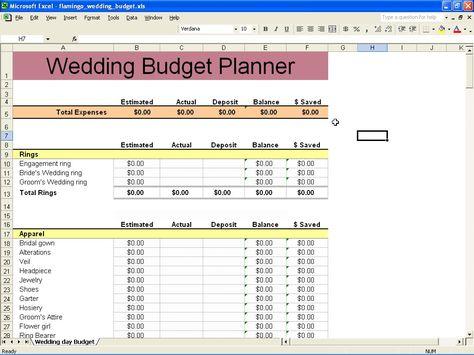 My Heart Be Still  A Fabulous Wedding Budget Spreadsheet
