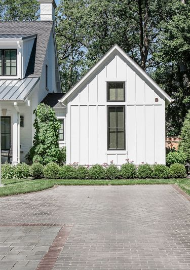 Board & Batten, metal roof, white house, farmhouse, grey ... on