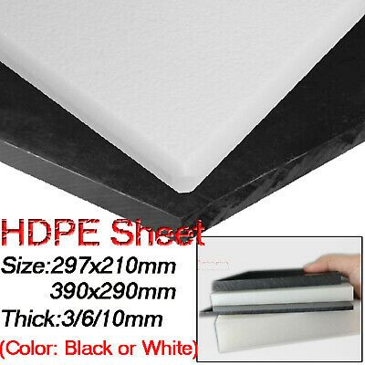 Ad Ebay Url Hdpe High Density Polyethylene Plastic Sheet Black White 297x210mm 390x290mm Plastic Sheets Sheet Engineering Plastics