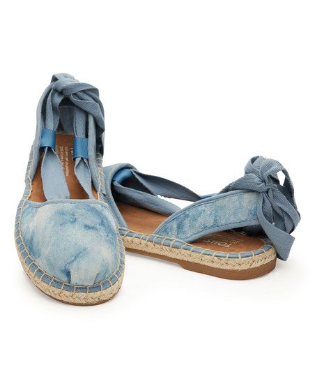 2f54fd74ab4 TOMS Blue Skyway Washed Suede Bella Espadrille