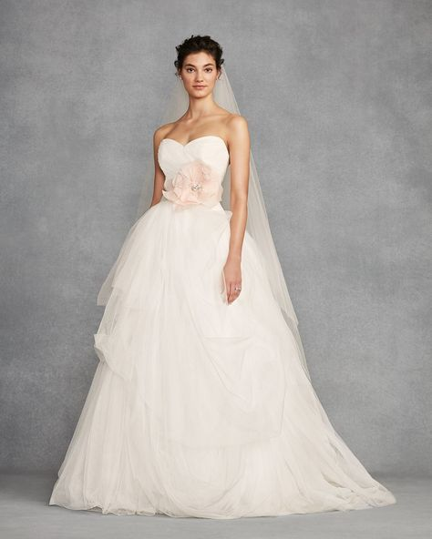 80a0b17504d7 A strapless ball gown and airy tulle skirt is the perfect balance between  traditional bride and the modern bride. Shop WHITE by Vera Wang wedding  dresses at ...