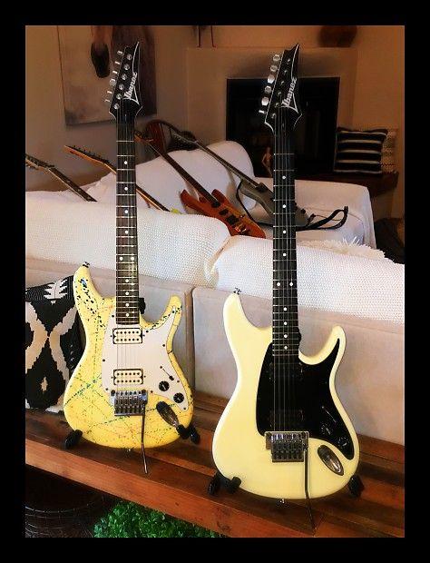Very Rare Ibanez Vm1 Vinnie Moore White Guitar Reverb