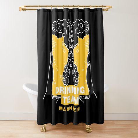 Drinking Beer Team Mannheim Shower Curtain By Anejsraml