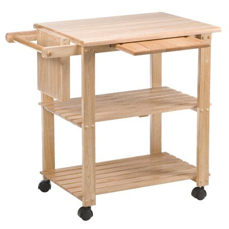 Winsome Wood Mario Utility Kitchen Cart Natural Finish Buy Apt Kitchen Utility Cart Kitchen Cart Microwave Cart