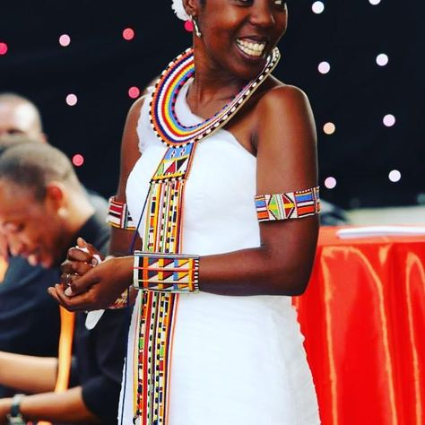 After I was dressed in traditional Maasai Wedding beads.one of my favorite pictures by photographer extraordinaire Joe Makeni