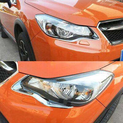 Front Headlight Lamp Eyelid Chrome Cover Trim For Subaru Xv Crosstrek 2013 2014 In 2020 Subaru Subaru Crosstrek Headlights
