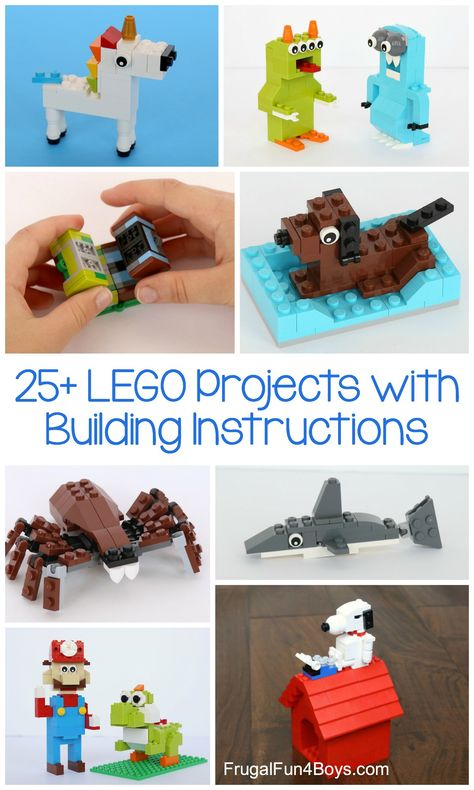 a big tub of LEGO bricks? Try these project ideas Got a big tub of LEGO bricks? Try these project ideas! - Frugal Fun For Boys and GirlsGot a big tub of LEGO bricks? Try these project ideas! - Frugal Fun For Boys and Girls Lego Club, Lego Design, Lego Therapy, Big Tub, Lego Challenge, Lego Craft, Lego For Kids, Lego Storage, Lego Building
