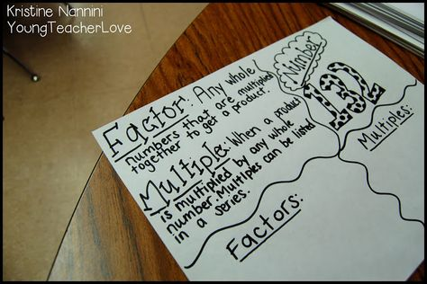 Factors and multiples quick check idea! Great for formative assessments!