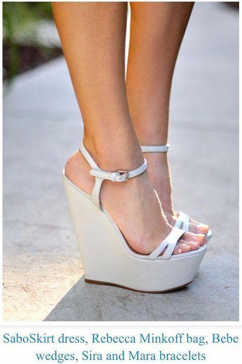 Cute wedges #Highheels | Schuhe | Keilabsatz schuhe