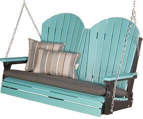 Luxcraft Adirondack Poly Porch Swing 4 Foot In 2020 Porch Swing Patio Decor Outdoor Decor