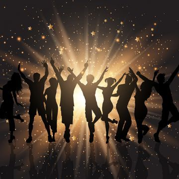 Party Crowd On Starburst Background 1201 Background Party People Png And Vector With Transparent Background For Free Download Banner Background Images Disco Background Background