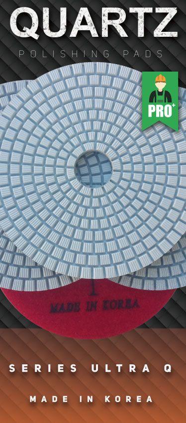 "4"" 3-Step Wet /& Dry Pro Diamond Polishing Pads for Granite Quartz Stone"