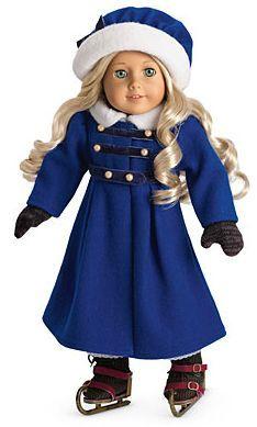 American Girl Doll Rebecca/'s Beforever Blue Winter Coat Jacket /& Hat NEW!!